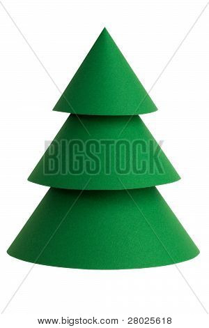 Beautiful Green Stylized Christmas Tree