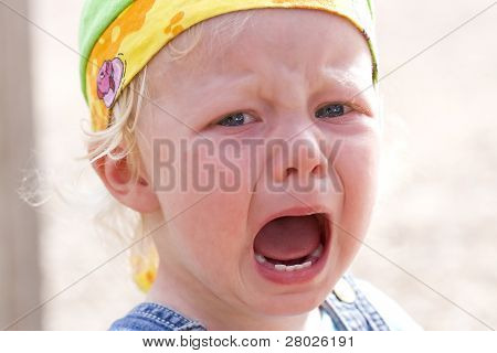 Toddler Girl Bawling