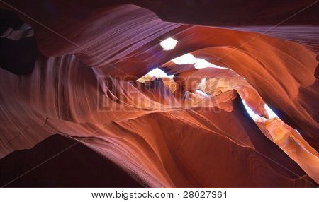 "Walls of improbably beautiful canyon ""Antelope"" in the USA at midday"