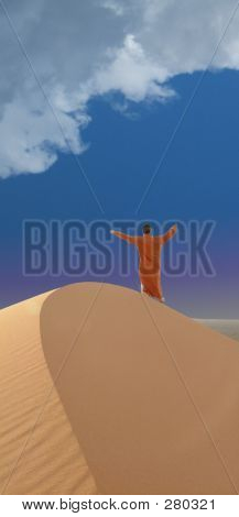 Oniric Scene In Desert