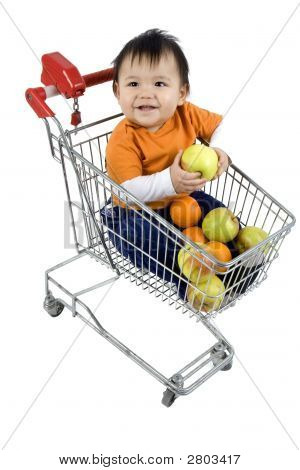 Baby In A Shopping Cart