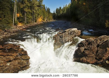Low falls on fast northern river in the USA