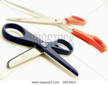 Two Pairs Of Scissors, Horizontal