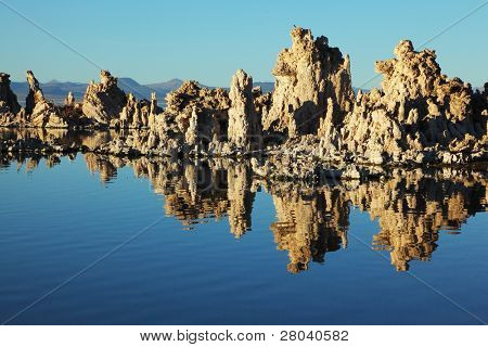Fabulously beautiful Mono Lake with fantastic riffs. Sunset