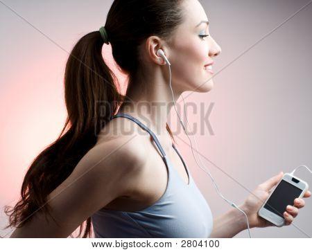 Nice Running Girl