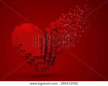 Heart Shaped Dissolving Data Block