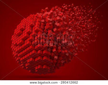 Dissolving Spherical Data Block Made