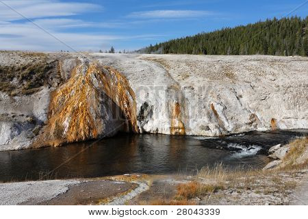 Yellowstone National Park. Hot springs and streams