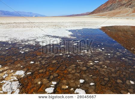 The famous section of Death Valley -