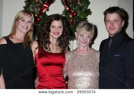 LOS ANGELES - DEC 17:  Nicholle Tom, Heather Tom, Marie Tom, David Tom at the 2011 Tom / Achor Annual Christmas Party at Private Home on December 17, 2011 in Glendale, CA