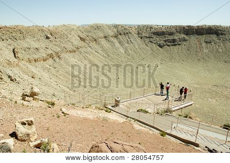 Meteor Crater viewing platform