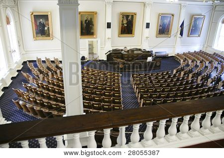 New Hampshire state capital building interior