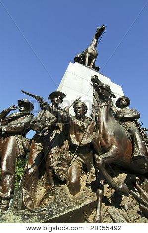 The Virginia Memorial on Seminary Ridge. Robert E. Lee and Traveler top the monument