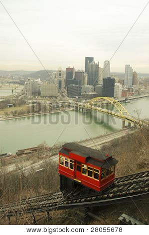 view of Pittsburgh and Duquesne Incline
