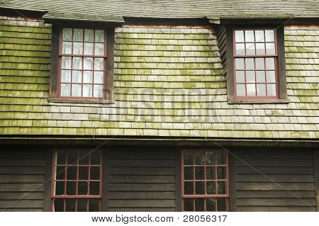 historic village building windows