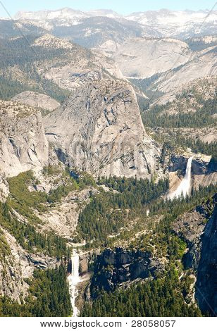 Liberty Cap, Nevada Falls and Vernal Falls
