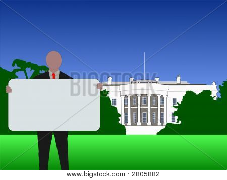 Man With Sign Washington Dc