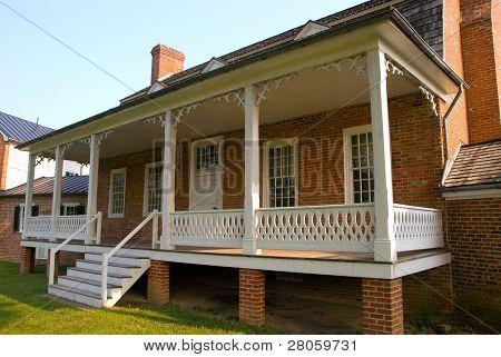 Thomas Stone National Historic Site  house porch