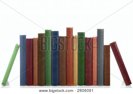 Row Of Old Books.