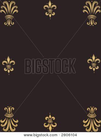 Golden Ornaments Frame