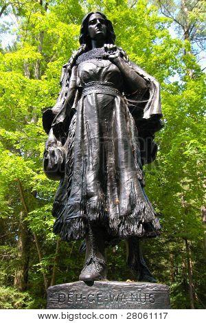 Mary Jemison grave site statue