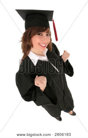 Woman At Graduation
