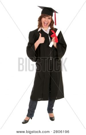 Woman At Graduation