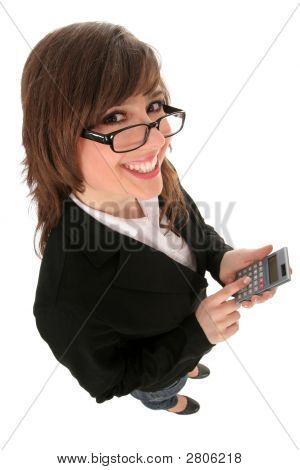 Businesswoman Holding A Calculator