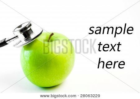 Medical Stethoscope And Apple