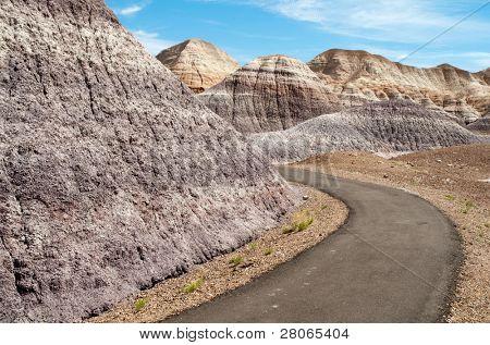blue mesa painted desert trail