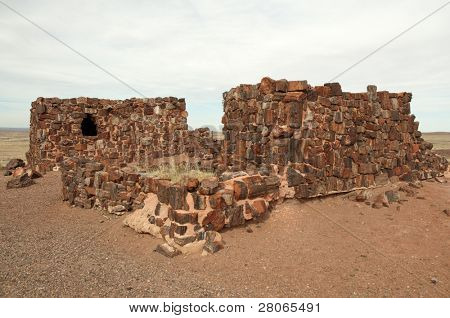 Agate House, made of petrified wood