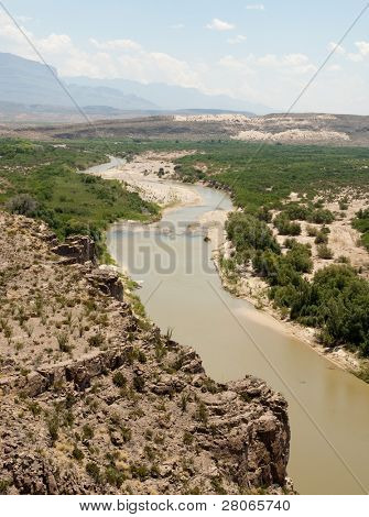 hot springs canyon and rio grande river