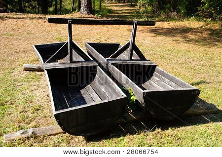 wooden mining equipment