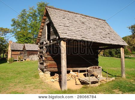 Zebulon Vance Birthplace State Historic Site farm buildings