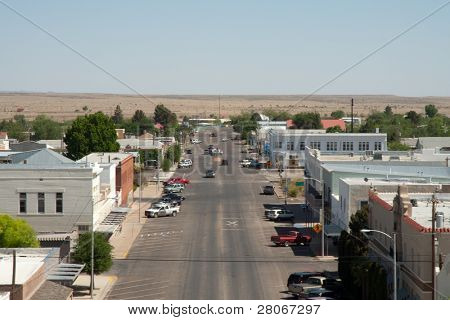 Marfa Courthouse view of Marfa, Texas