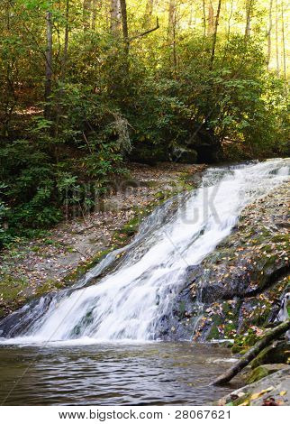Deep Creek trail waterfall