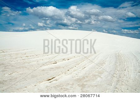 salt playa and sand dunes