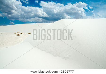 sand dunes and dynamic sky