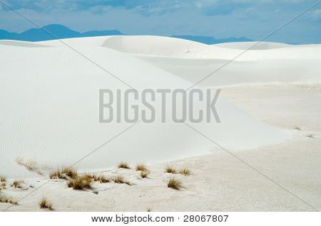 sand dunes and salt playa