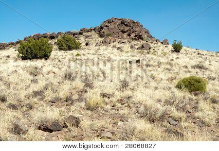 desert hills and volcanic rocks