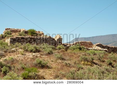 Tuzigoot National Monument ruins on a hill