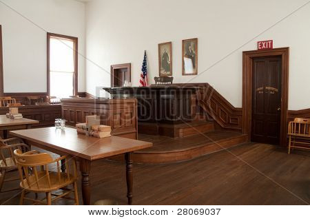 Tombstone, Arizona courthouse courtroom