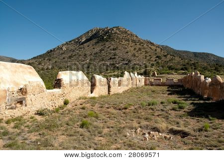 Fort Bowie National Historic Site adobe ruins and desert mountains
