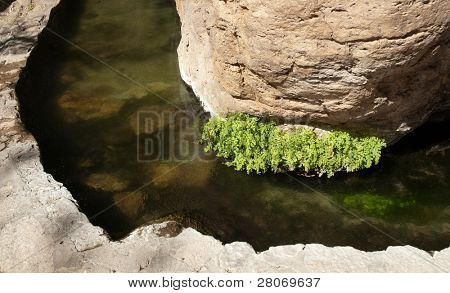 Montezuma Well National Monument rock carved stream irrigation
