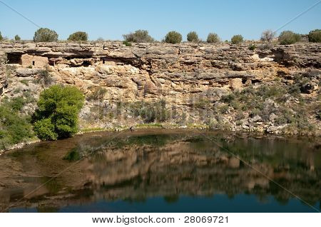 Montezuma Well National Monument and native american indian ruins