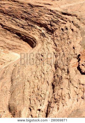 orange sandstone formation