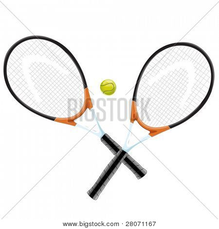 sport icons, tennis rackets