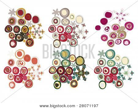 snowflakes color set