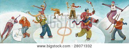 winter sport fans