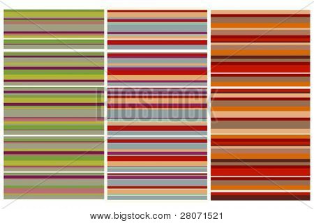 three vector striped backgrounds